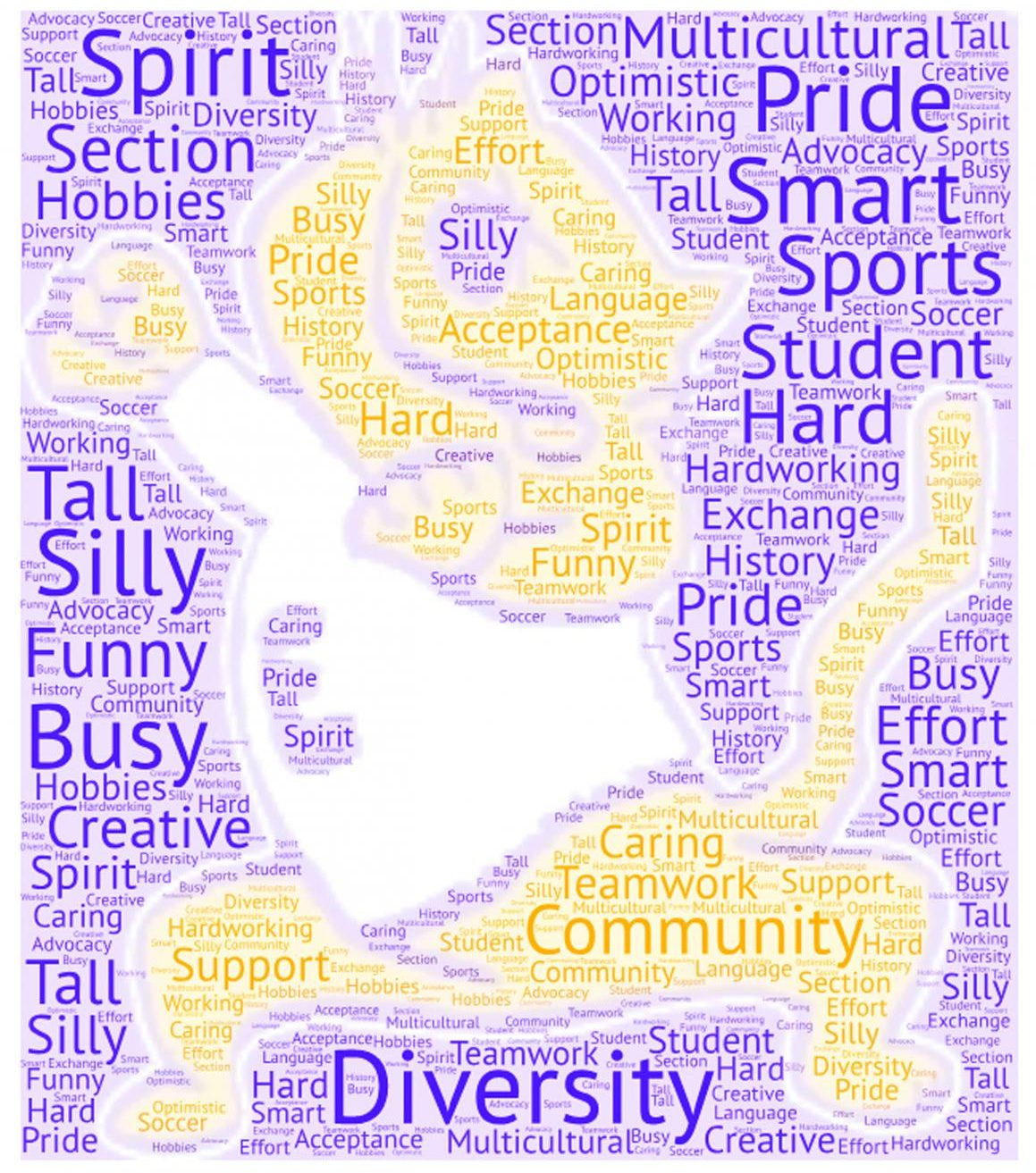 A wordle made after asking the sophomore class,