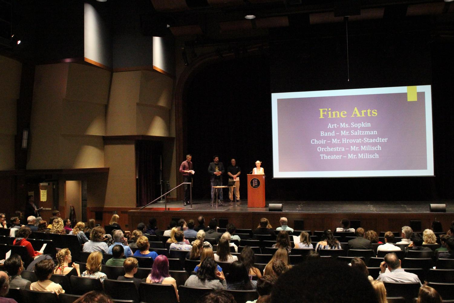 This is the senior award ceremony in the theater on May 30.